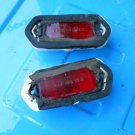 69 1969 Chevy Chevelle El Camino Malibu SS rear red marker lights, pair orig GM