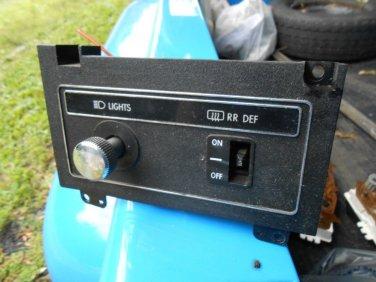 1979 1980 78? 77? Dodge Aspen Plymouth Volare light switch panel rear defog