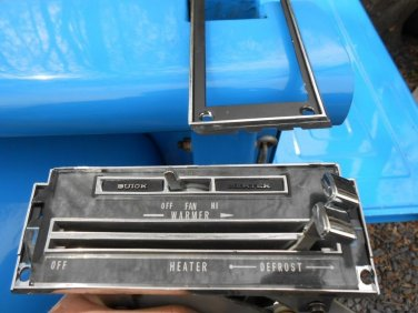 67 1967 68? Buick Lesabre Wildcat? dash heater control assembly GM