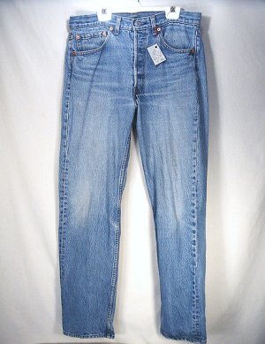 Levis 501 Blue Jeans W32 L30. Vintage Button Fly. Gently Worn. Classic Levi's Work Clothing.