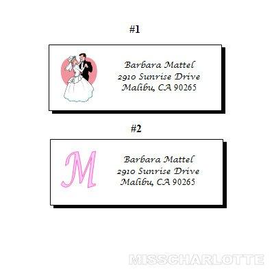 120 Personalized Bridal Shower or Wedding Reception Return Address Labels