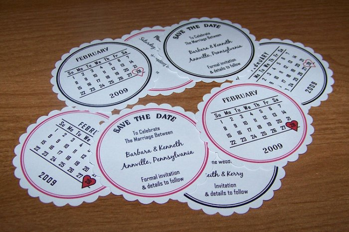108 Save The Date Wedding Annoucement Cards Style 1