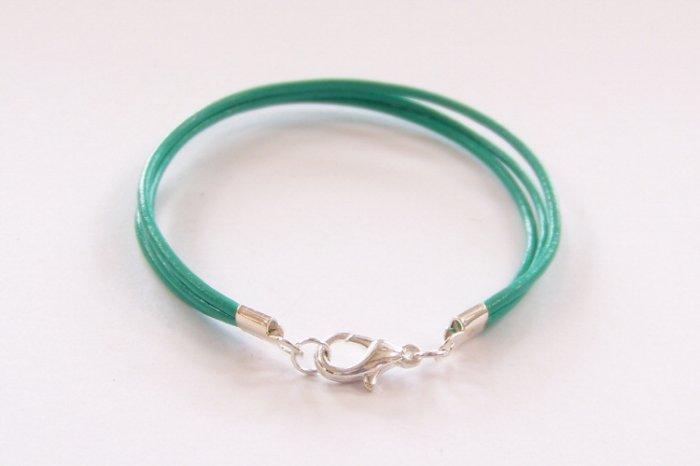 Mint Green Surfer Style Leather Bracelet