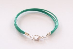 Mint Green Surfer Style Leather Bracelet