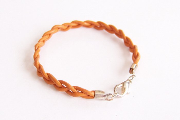 Marigold Braided Leather Bracelet