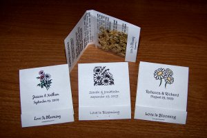 104 Personalized Wedding Wildflower Seed Packet Favors Style #1
