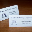 100 Personalized Wedding Tent Style Place Cards Style #2