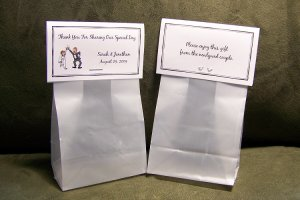 102 Personalized Wedding Favor Bag Toppers