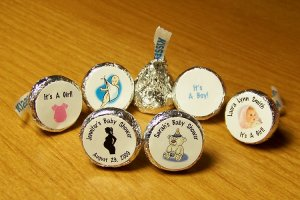Personalized Baby Shower Hershey Kiss Favor Labels (324 cnt)