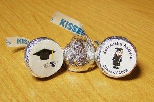 Personalized Graduation Party Hershey Kiss Favor Labels (324 cnt)