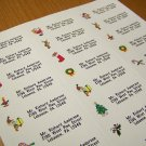 Personalized Christmas Return Address Labels 120 cnt