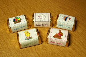 Personalized Easter Hershey Nugget Candy Wrapper Favor Labels (150 cnt)