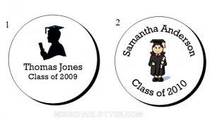 """1.2"""" Personalized Graduation Party Round Favor Labels (192 cnt)"""