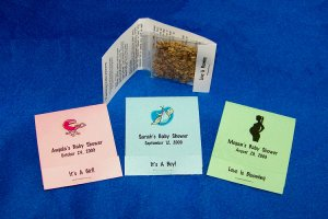24 Personalized Baby Shower Wildflower Seed Packet Favors Style #1