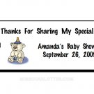 30 Personalized Baby Shower Rectangle Hang Tags