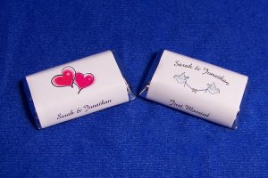 112 Personalized Wedding Miniature Candy Wrapper Favor Labels Styles #1&2