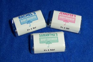 112 Personalized Baby Shower Miniature Candy Wrapper Favor Labels Style #3