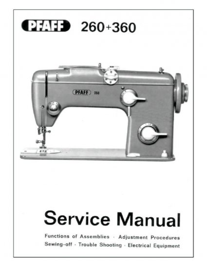 Pfaff 360 Sewing Machine Service Manual Pdf