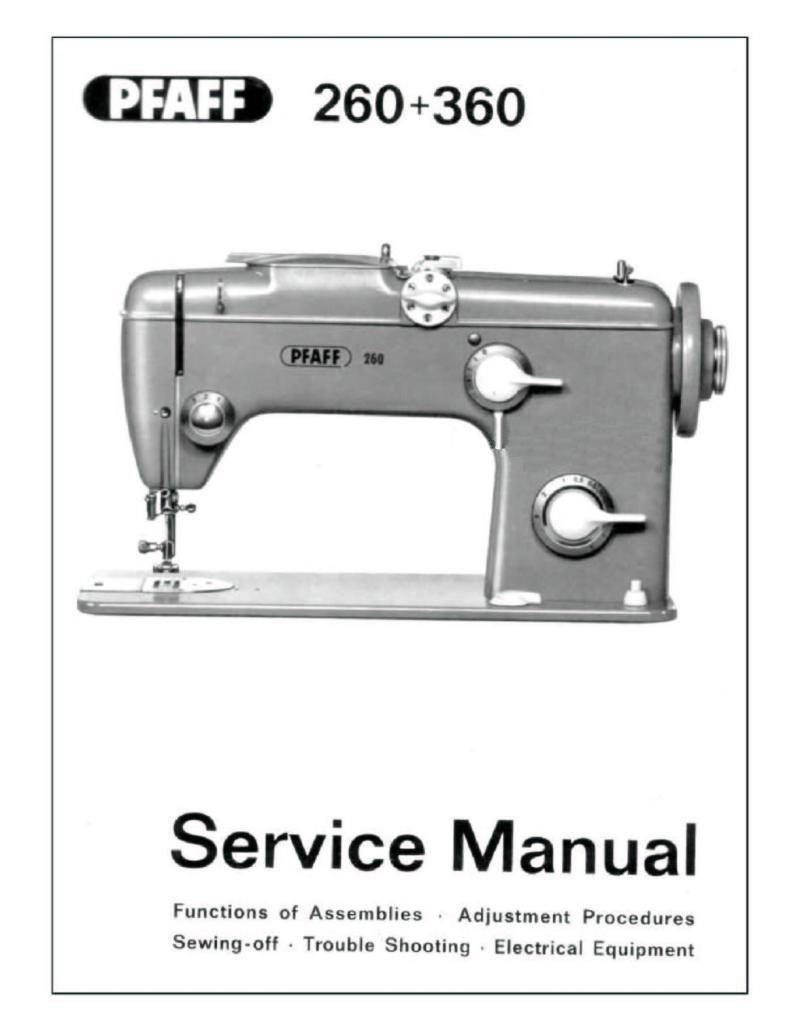 Pfaff 260 Sewing Machine Service Manual Pdf
