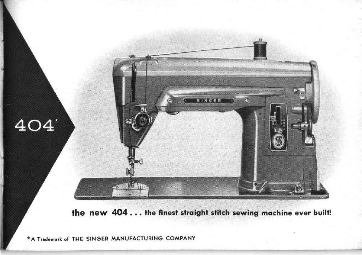 Singer 404 Sewing Machine Instruction Manual Pdf