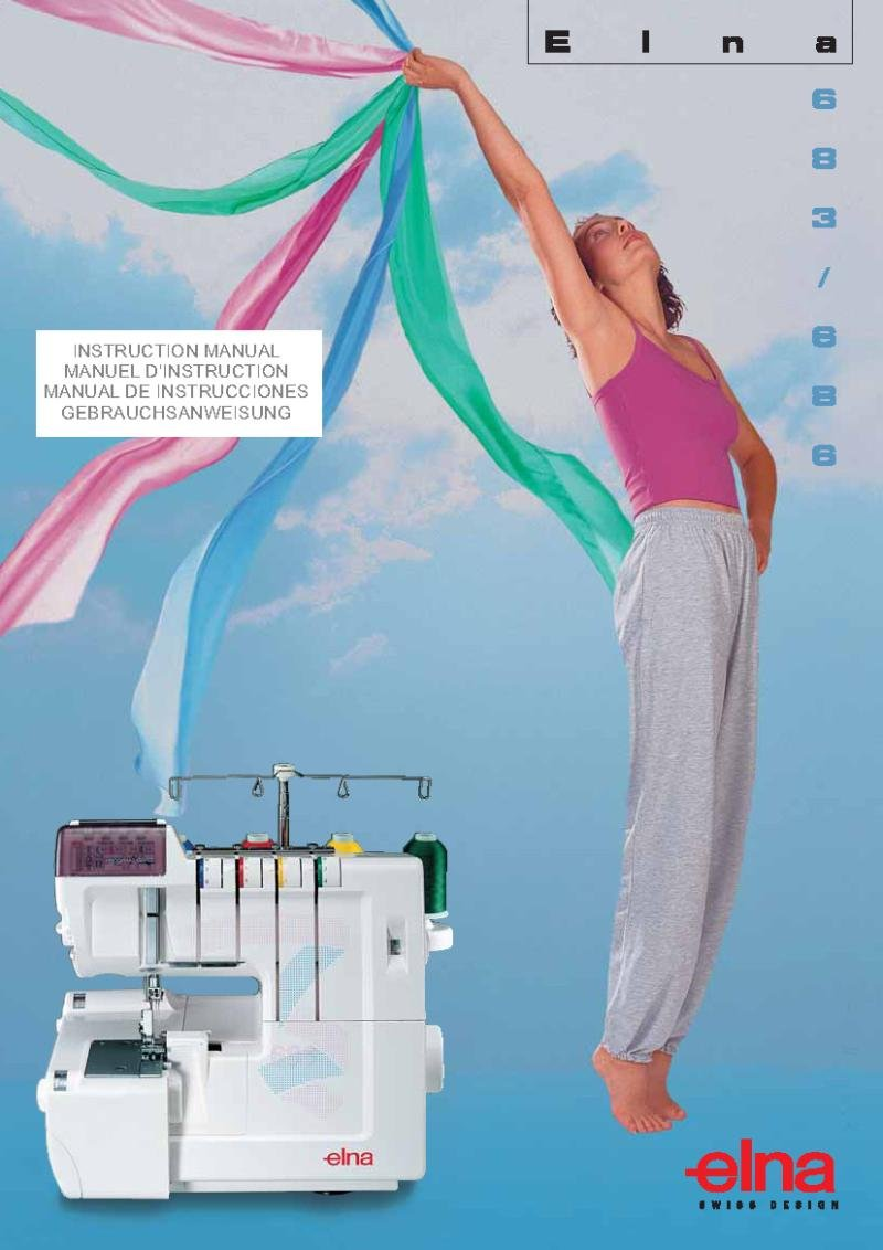 Elna 686 Overlock Sewing Machine Instruction Manual Pdf