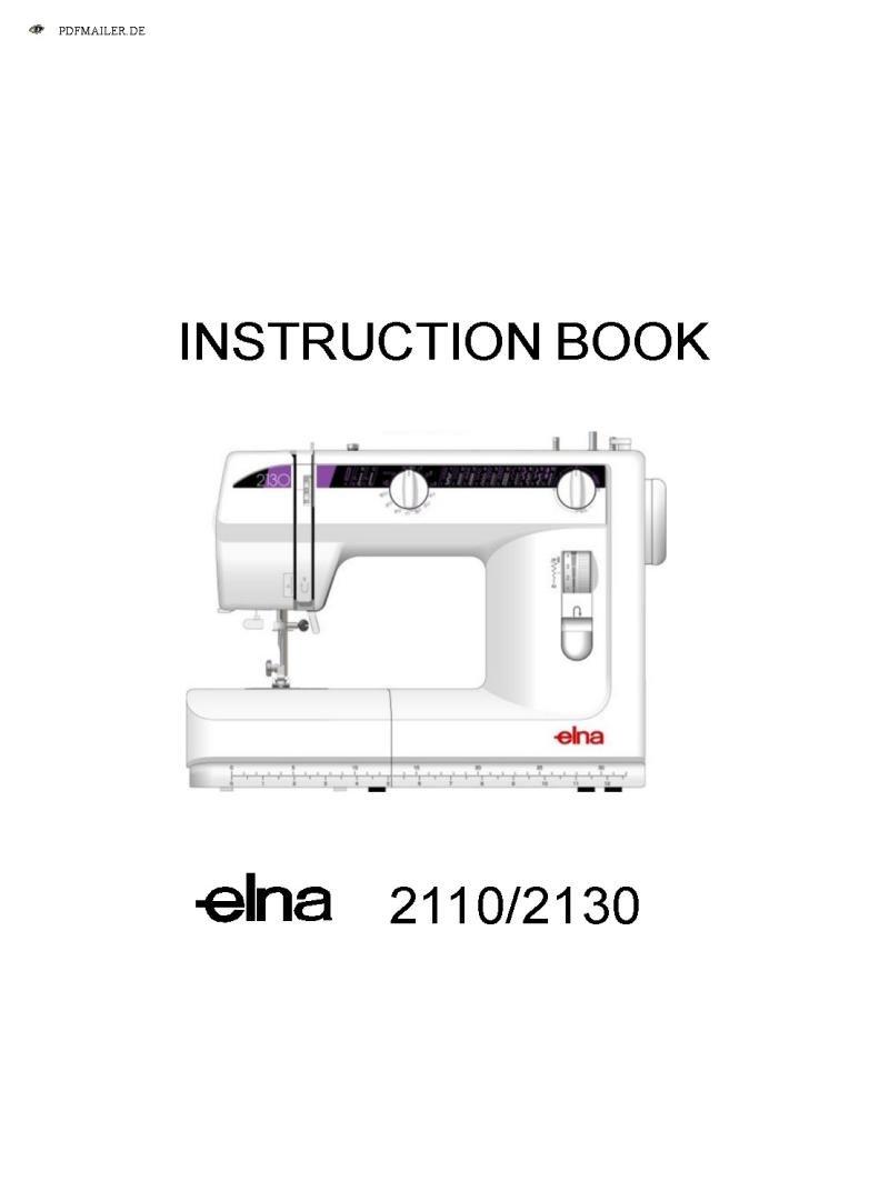 Elna 2110 Sewing Machine Instruction Manual Pdf