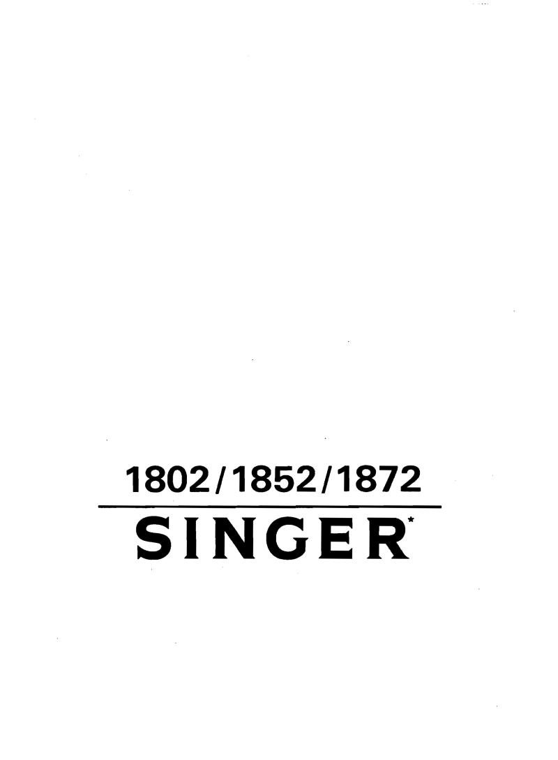 Singer 1852 Sewing Machine Instruction Manual Pdf