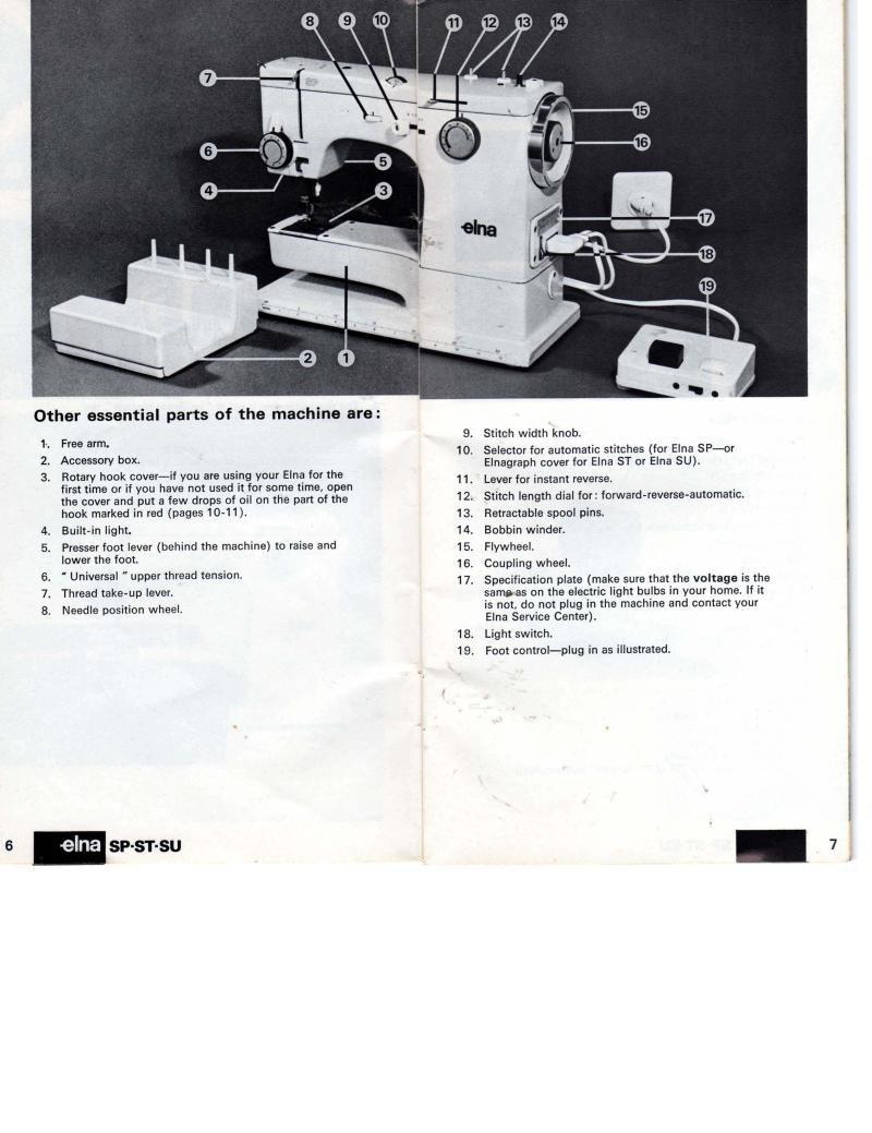 Elna SP ST SU Sewing Machine Manual Pdf