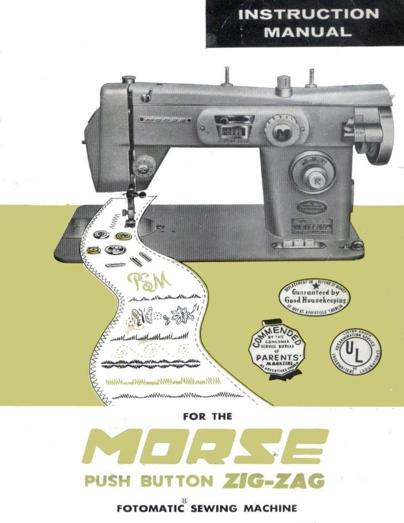 Morse Zig Zag Fotomatic Sewing Machine Manual Pdf