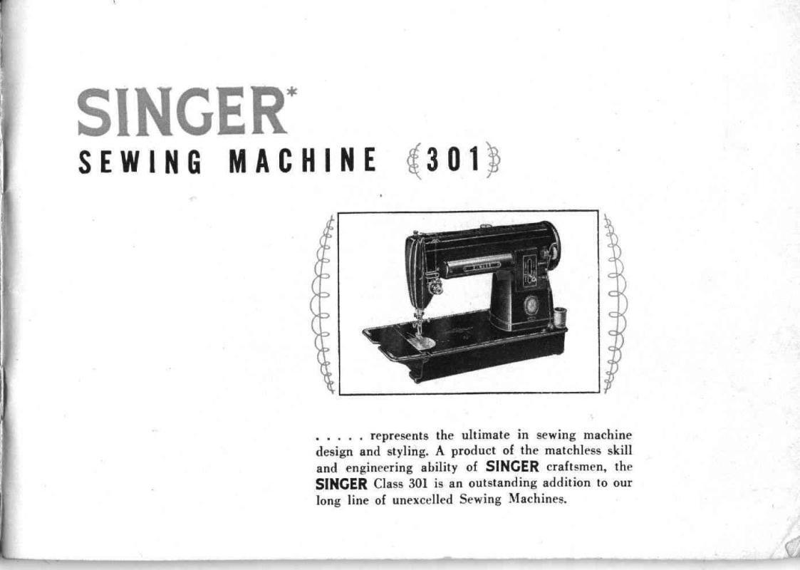 Singer 301 Sewing Machine Manual Pdf