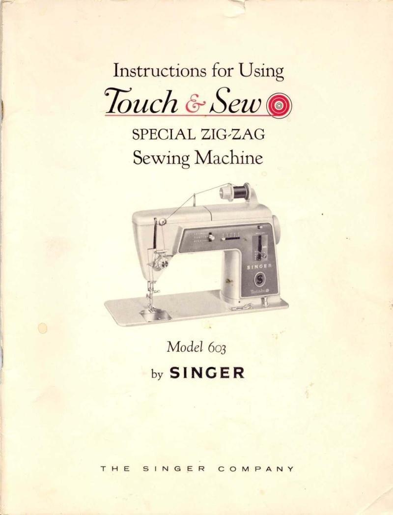 Singer Model 603 Sewing Machine Manual Pdf