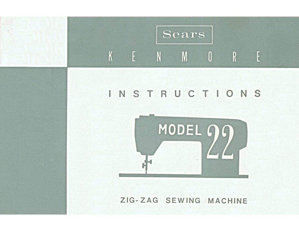 Kenmore Model 22 Sewing Machine Manual Pdf