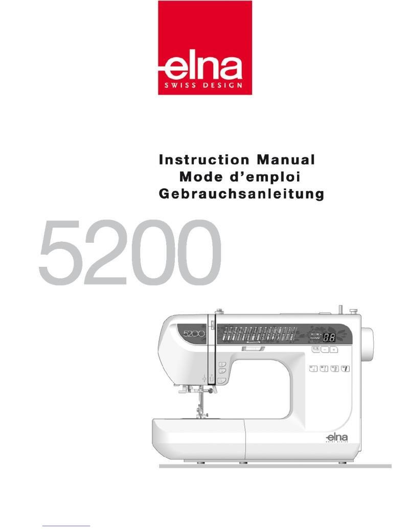 Elna 5200 Sewing Machine Instruction Manual Pdf
