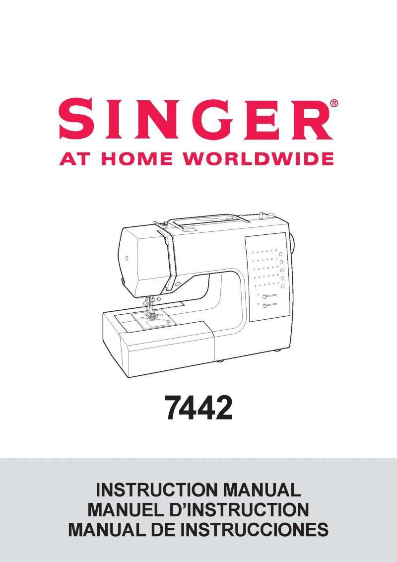 Singer 7442 Sewing Machine Instruction Manual Pdf