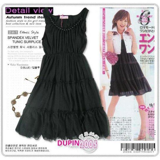 ML 9046 Black dinner dress