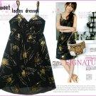 ML 9038 Black butterfly printed dress