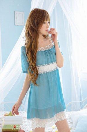ML 9047 light grey  chiffon lace dress