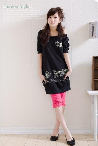 ML 8022 Black long top