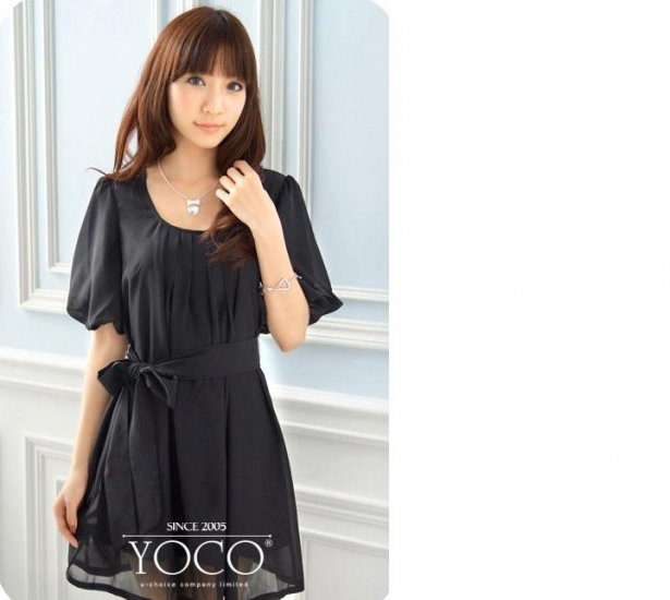 ML 9054 Black chiffon dress