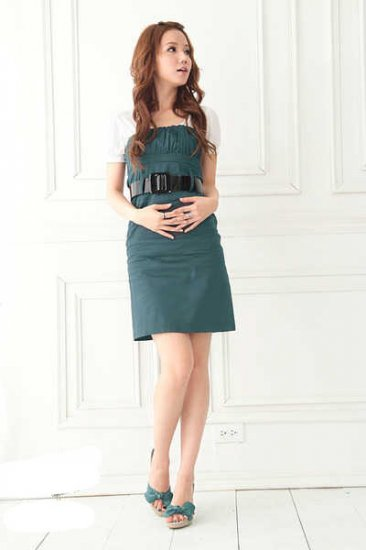 ML 9059 Dark green tube dress