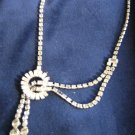 Vintage CORO Rhinestone Necklace Unusual!!