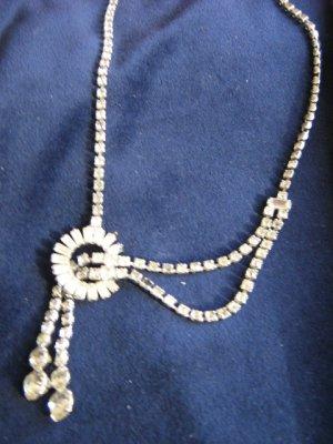 Vintage CORO Rhinestone Necklace Unusual!!