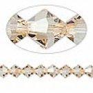 6mm swarovski crystal *crystal golden shadow* with Gold spacers bracelet