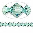 6mm swarovski crystal *erinite* with gold spacers bracelet