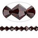 6mm swarovski crystal *garnet* with silver spacer bracelet