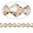 8mm swarovski crystal *crystal golden shadow* with silver Spacer 7 inch bracelet