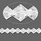 8mm swarovski crystal *clear* with silver spacers 7 inch bracelet