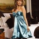 Lingerie Satin Turquoise Bubble Dress