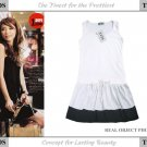 20s Twenties Cotton White Dress A3621