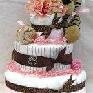 3 Tier Diaper Cake - Tigerlily